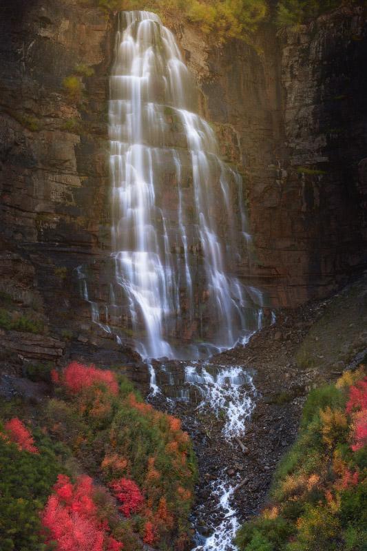 Bridal Veil Falls Autumn Print
