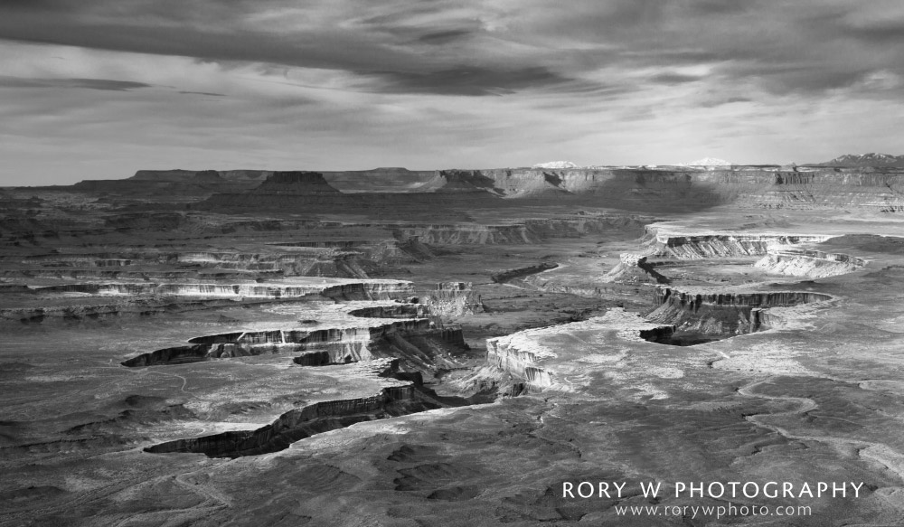 Green River Overlook Black and White Print