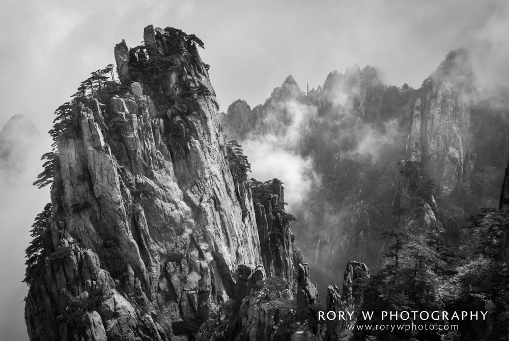 Yellow Mountains of Huangshan China Print
