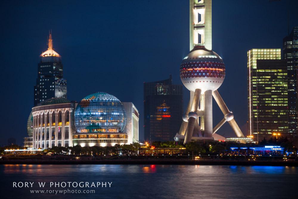 Pearl Tower Closeup, Shanghai China Print