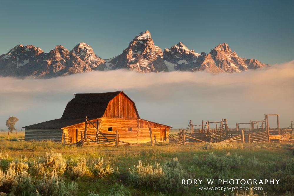 Mormon Row Barn Sunrise Print