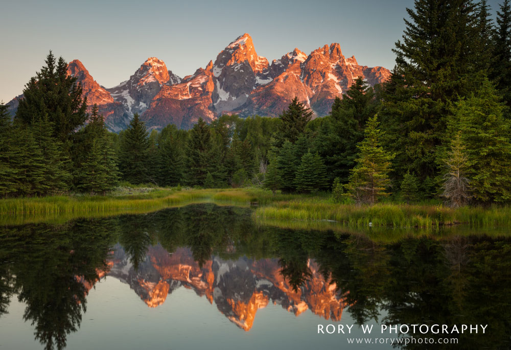 Sunrise at Schwabacher's Landing Print