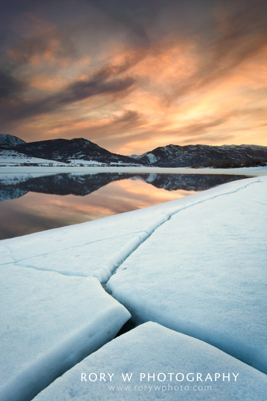 Winter Fractures at Pineview Print