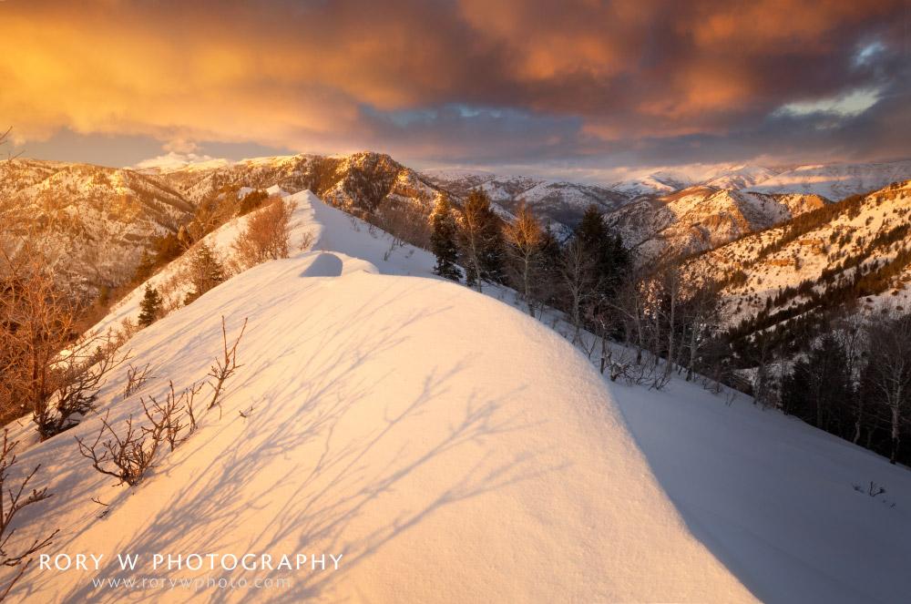 Sunset Near Snowbasin Print