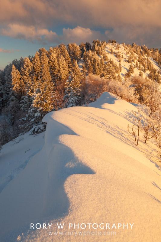 Snowdrift Sunset Print