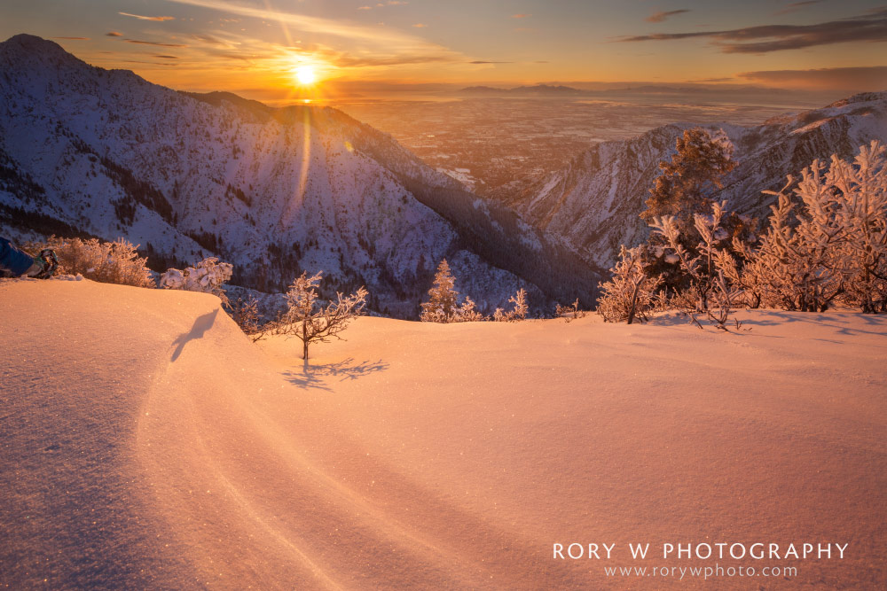Winter Sunset Over Ogden Print