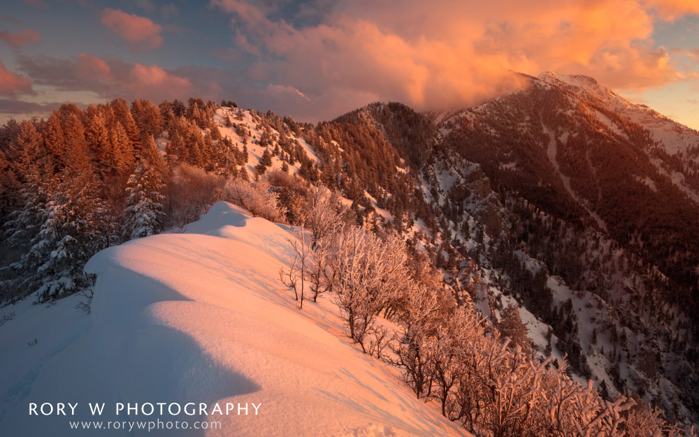 Sunset on the Ridgeline Print