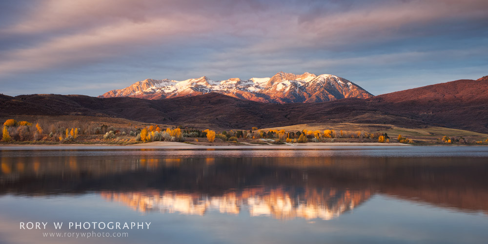 Fall Sunrise at Pineview Reservoir Print