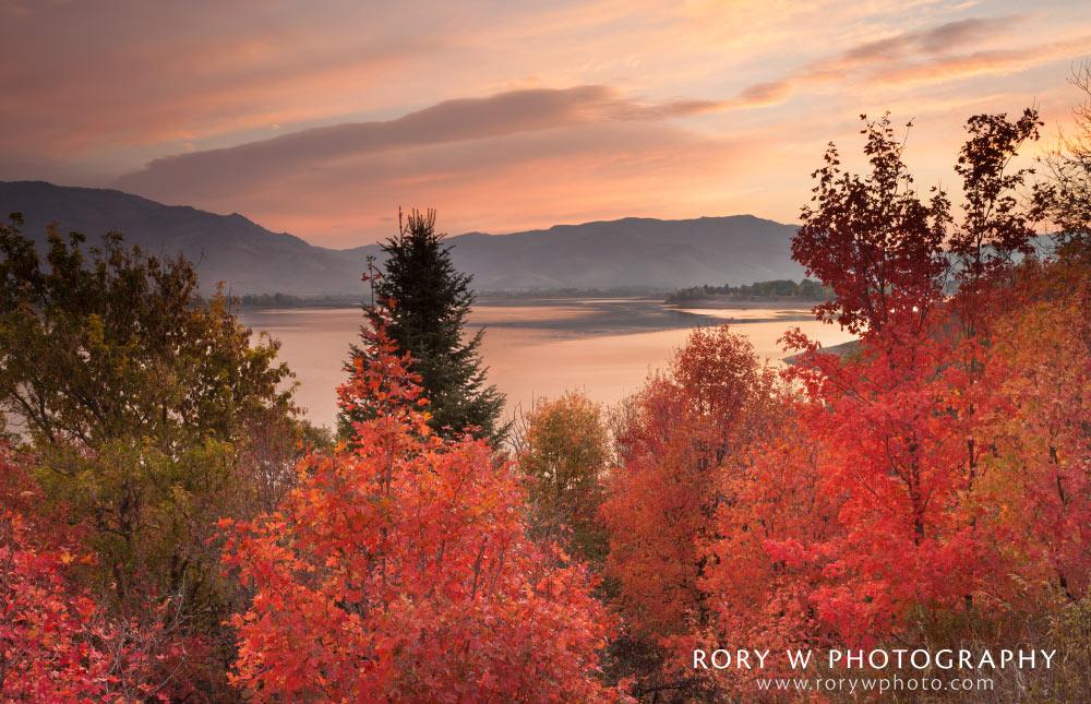 Autumn Sunrise in Ogden Valley Print