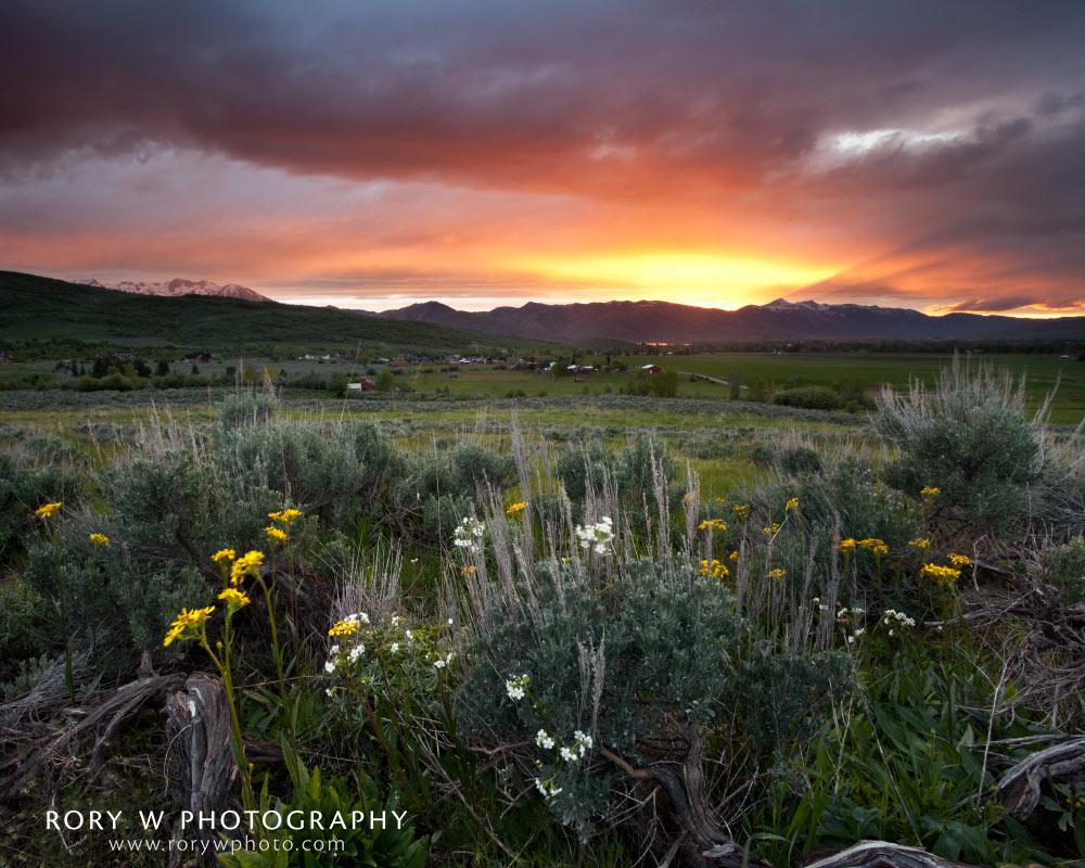 Sunset Over Ogden Valley Print