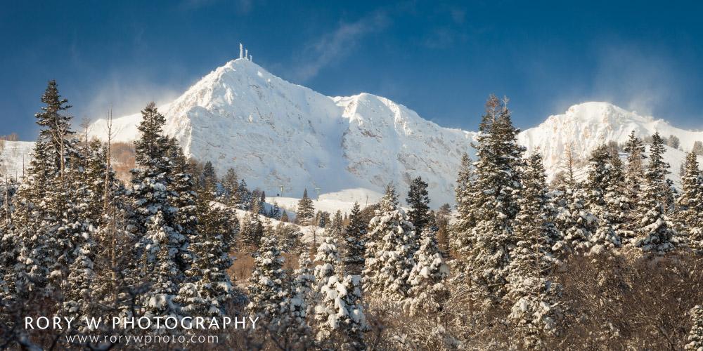 Fresh Snow on Mount Ogden Print