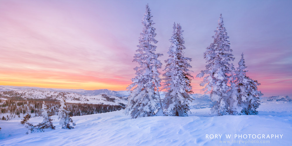 Sunrise at Powder Mountain Print