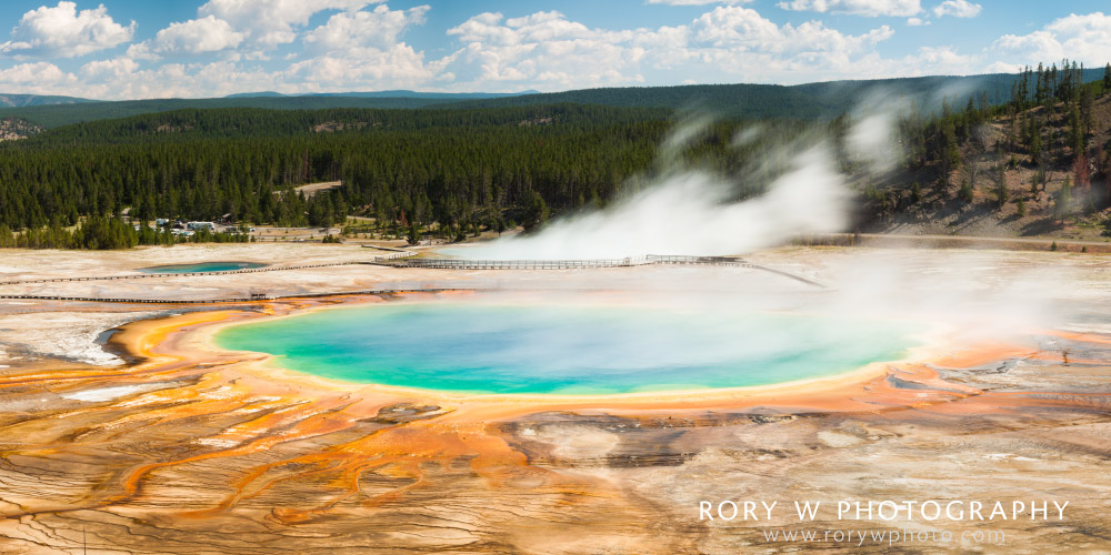 Grand Prismatic Spring from Above Print